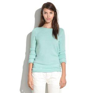 NWT Madewell Gamine Merino Wool Teal Blue Sweater